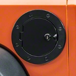 Rugged Ridge Fuel Cover Locking, Black Stainless Steel (07-13 Wrangler JK) - Rugged Ridge 11229.03