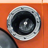 Rugged Ridge Fuel Filler Accent Trim, Chrome (07-13 Wrangler JK) - Rugged Ridge 13311.23