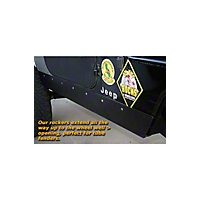 Gen-Right Steel Stretch Rocker Guards, Black (97-06 Wrangler TJ) - Gen-Right 5002