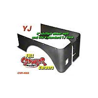 Gen-Right Steel Stretch Full Rear Competition Corner Guards (87-95 Wrangler YJ) - Gen-Right 4003