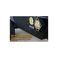 Gen-Right Steel Rocker Guards, Black (97-06 Wrangler TJ) - Gen-Right 2002