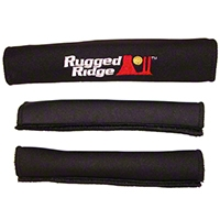 Rugged Ridge Grab Handle Cover Kit, Black (97-06 Wrangler TJ) - Rugged Ridge 13305.52