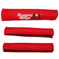 Rugged Ridge Grab Handle Cover Kit, Red (87-95 Wrangler YJ) - Rugged Ridge 13305.51