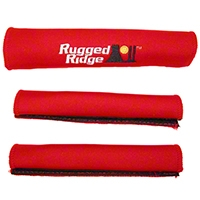 Rugged Ridge Grab Handle Cover Kit, Red (97-06 Wrangler TJ) - Rugged Ridge 13305.53