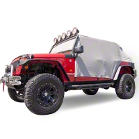Rugged Ridge Gray Vinyl Water Resistant Cab Cover (07-13 Wrangler JK 4 Door) - Rugged Ridge 13318.09