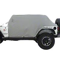 Smittybilt Gray Water Resistant Cab Cover w/ Door Flaps (92-06 Wrangler YJ & TJ) - Smittybilt 1061