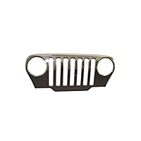 Mopar Grille Cover Chrome Genuine (97-06 Wrangler TJ) - Mopar 207924