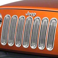 Rugged Ridge Grille Insert Kit, Billet Polished Aluminum (07-13 Wrangler JK) - Rugged Ridge 11401.2