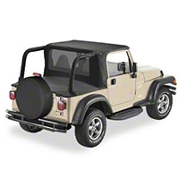 Bestop Black Denim Halftop (97-02 Wrangler TJ w/ Factory Hard Top) - Bestop 53819-15