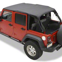 Bestop Header Safari Bikini Top, Khaki (07-09 Wrangler JK 4 Door) - Bestop 52581-36