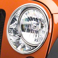 Rugged Ridge Headlight Trim - Pair, Chrome (07-13 Wrangler JK) - Rugged Ridge 13311.2