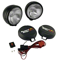 Rugged Ridge 2 HID Offroad Fog Lights, Black, 6 in. Round w/Wiring Harness (Universal Application) - Rugged Ridge 15205.51