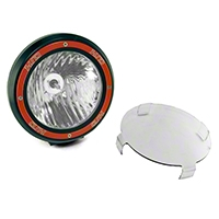 Rugged Ridge HID Offroad Fog Light, Black, 7 in. Round w/Composite Housing (Universal Application) - Rugged Ridge 15205.03