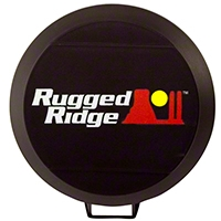 Rugged Ridge HID Off Road Light Cover, 5-Inch, For HID Steel Housing, Black (Universal Application) - Rugged Ridge 15210.52