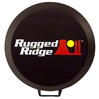 Rugged Ridge HID Off Road Light Cover, 6-Inch Black (Universal Application) - Rugged Ridge 15210.5