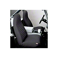 Bestop High-Back Bucket Seat Covers, Black Denim (92-94 Wrangler YJ) - Bestop 29224-15