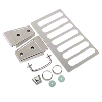 Rugged Ridge hood dress up 7pc kit, Stainless Steel (07-13 Wrangler JK) - Omix-ADA 11101.04