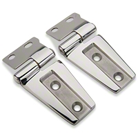 Rugged Ridge Hood Hinge Kit, Stainless Steel, Includes 2 Hinges (07-13 Wrangler JK) - Rugged Ridge 11111.22