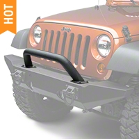 Rugged Ridge Hoop Over Rider Black Textured for Xtreme Heavy Duty Bumper (87-16 Wrangler YJ, TJ & JK) - Rugged Ridge 11540.14