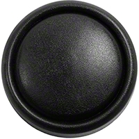 Omix-ADA Horn Button Cap on Steering Wheel -  Black (87-96 Wrangler YJ) - Omix-ADA 18033.01