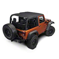 Rugged Ridge Pocket Island Top, Black Diamond (07-09 Wrangler JK 2 Door) - Rugged Ridge 13588.35