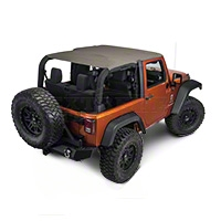 Rugged Ridge Pocket Island Top, Khaki Diamond (07-09 Wrangler JK 2 Door) - Rugged Ridge 13588.36