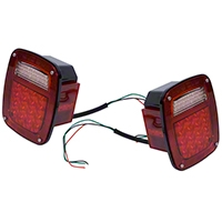 Omix-ADA Led Tail Light Set (87-06 Wrangler YJ & TJ) - Omix-ADA 12403.85
