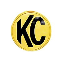 KC Hilites Light Cover Pair Yellow w/Black KC Logo 6 In. Round (Universal Application) - KC Hilites 5101