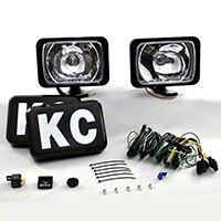 KC Hilites 2 Series 69 Lights, 100W, Long Range, Black, 6x9 in. (Universal Application) - KC Hilites 241