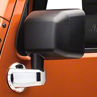 Rugged Ridge Mirror Arm Covers - Pair, Chrome (07-13 Wrangler JK) - Rugged Ridge 13311.02