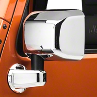 Rugged Ridge Mirror Cover Kit, 4 Piece, Chrome (07-13 Wrangler JK) - Rugged Ridge 13311.03