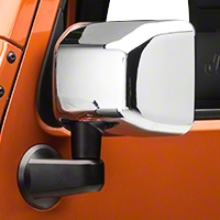 Rugged Ridge Mirror Covers - Pair, Chrome (07-13 Wrangler JK) - Rugged Ridge 13311.01