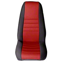 Rugged Ridge Neoprene Front Seat Covers Pair - Red/Black (87-90 Wrangler YJ) - Rugged Ridge 13212.53