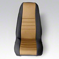 Rugged Ridge Neoprene Front Seat Covers Pair - Tan/Black (87-90 Wrangler YJ) - Rugged Ridge 13212.04