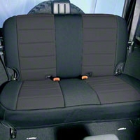 Rugged Ridge Neoprene Rear Seat Cover Black (87-95 Wrangler YJ) - Rugged Ridge 13262.01