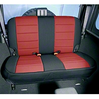 Rugged Ridge Neoprene Rear Seat Cover - Red/Black (97-02 Wrangler TJ) - Rugged Ridge 13261.53