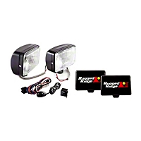 Rugged Ridge 2 Halogen Fog Lights, Black, 5x7 in., 100W w/Wiring Harness (Universal Application) - Rugged Ridge 15207.55