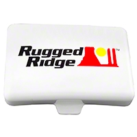 Rugged Ridge Off Road Light Cover, 5X7-Inch - Each, White (Universal Application) - Rugged Ridge 15210.56