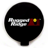 Rugged Ridge Off Road Light Cover, 6-Inch Slim, Black (Universal Application) - Rugged Ridge 15210.57