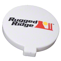 Rugged Ridge Off Road Light Cover, 6-Inch Slim, White (Universal Application) - Rugged Ridge 15210.58