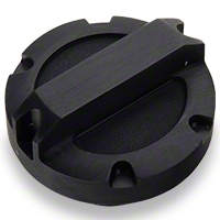 Rugged Ridge Oil Cap, Black Billet Aluminum (07-11 Wrangler JK) - Rugged Ridge 11431.04