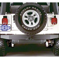 Olympic 4x4 57 in. Rock Rear Bumper w/Hitch (87-95 Wrangler YJ) - Olympic 4x4 553-111