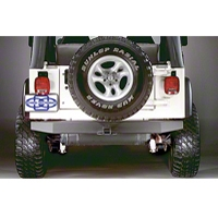Olympic 4x4 57 in. Rock Rear Bumper w/Hitch (97-06 Wrangler TJ) - Olympic 4x4 553-121