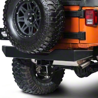 Olympic 4x4 Rock Rear Bumper, Gloss Black (07-13 Wrangler JK) - Olympic 4x4 550-171