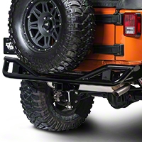 Olympic 4x4 Boa Rear Bumper, Gloss Black (07-13 Wrangler JK) - Olympic 4x4 250-171