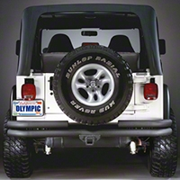 Olympic 4x4 Double Tube Rear Bumper w/Hitch (87-95 Wrangler YJ) - Olympic 4x4 353-114