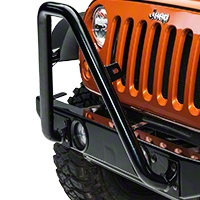 Olympic 4X4 Front Bumper Bar, Gloss Black (07-13 Wrangler JK) - Olympic 4x4 264-171