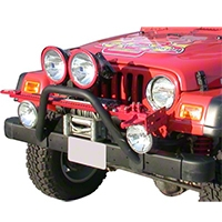 Olympic 4x4 Bumper Mounted Light Bar (97-06 Wrangler TJ) - Olympic 4x4 264-121