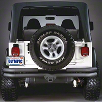 Olympic 4X4 Products Double Tube Receiver Hitch Rear Bumper (87-95 Wrangler YJ) - Olympic 4x4 353-104