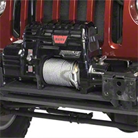 Olympic 4x4 Products Front Bumper Winch Mount, Rubicon Black (07-09 Wrangler JK) - Olympic 4x4 507-174